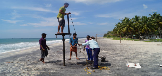 Auger Drilling for Beach Sand Exploration