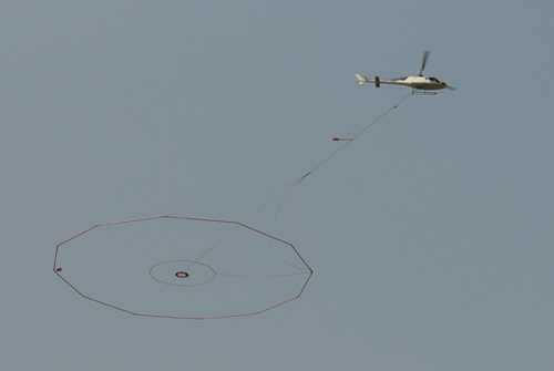 Heliborne Geophysical Survey in progress