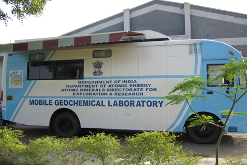 Mobile Geochemical van of Chemistry Group